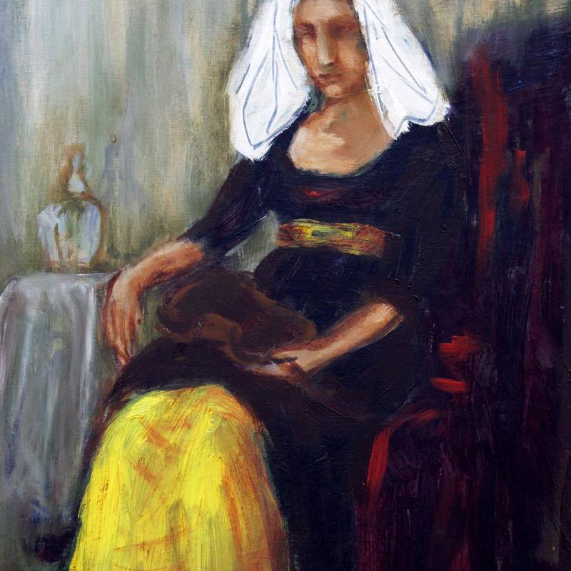 A propos Vermera - obraz olejny na płótnie, ArsKinga - Kinga Pawełska