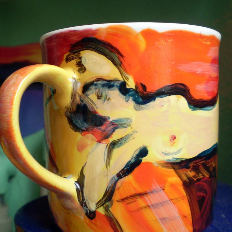 Akt - ceramika artystyczna, malarstwo na gotowej obiekcie, ArsKinga - Kinga Pawełska