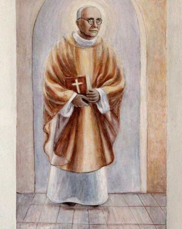Błogosławiony ks. Michał Sopoćko - fresk w kościele św. Wojciecha w Białymstoku, ArsKinga - Kinga Pawełska