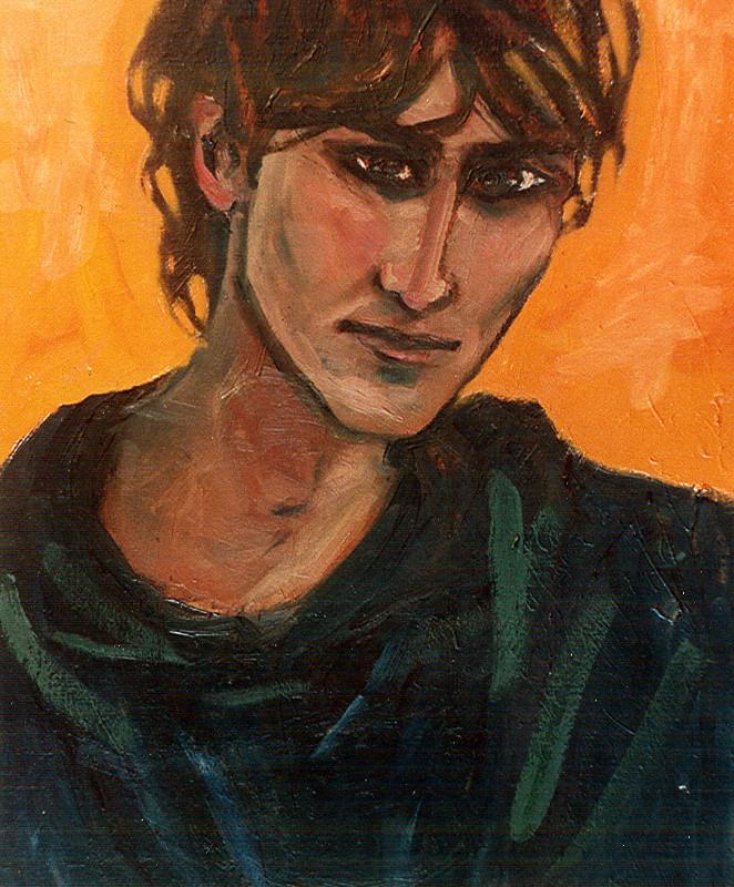 Brat Sofi - obraz olejny na płótnie, ArsKinga - Kinga Pawełska