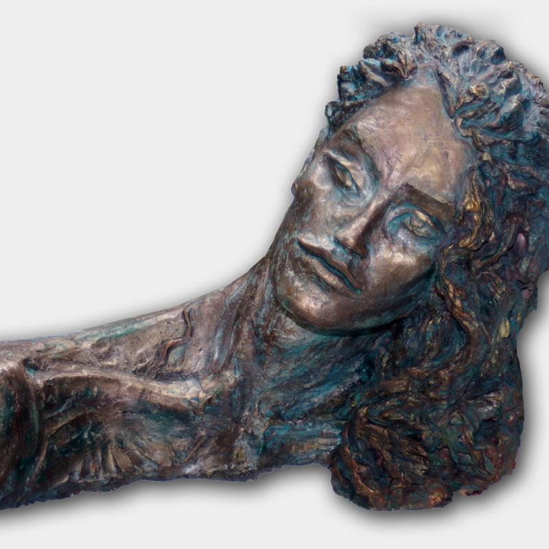 Erynia - rzeźba, gips patynowany, ArsKinga - Kinga Pawełska