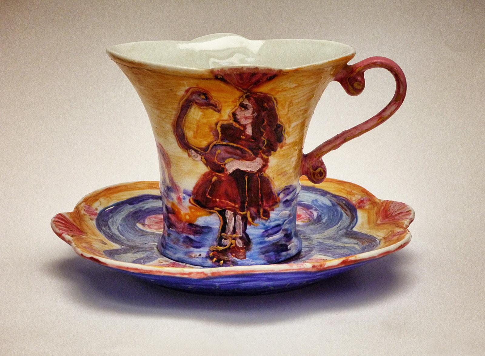 Filiżanka ciepła - ceramika artystyczna, malarstwo na gotowym obiekcie, ArsKinga - Kinga Pawełska