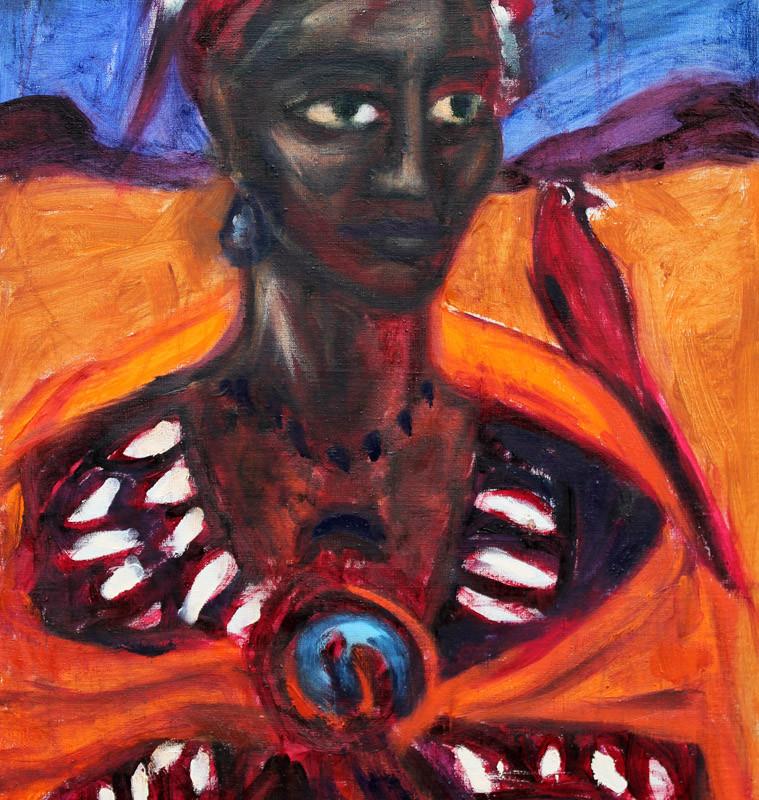 Frida - obraz olejny na płótnie, ArsKinga - Kinga Pawełska