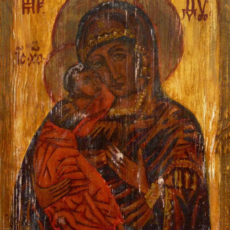 Ikona Hodigitria - obraz olejny na desce, ArsKinga - Kinga Pawełska