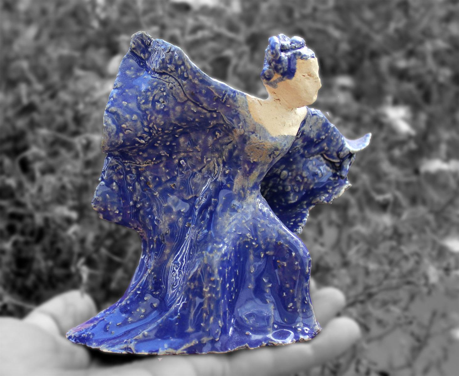 Japonka w tańcu - rzeźba ceramiczna, ArsKinga - Kinga Pawełska