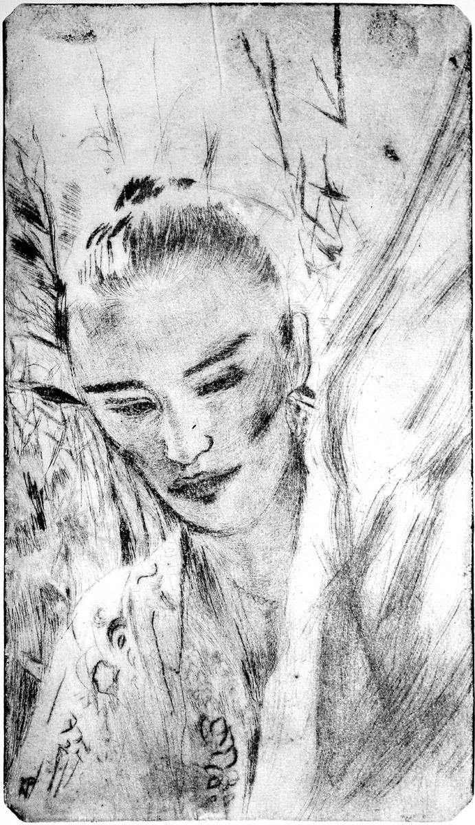 Japonka - grafika, ArsKinga - Kinga Pawełska