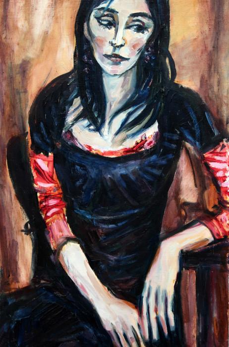 Julia - obraz olejny na płótnie, ArsKinga - Kinga Pawełska