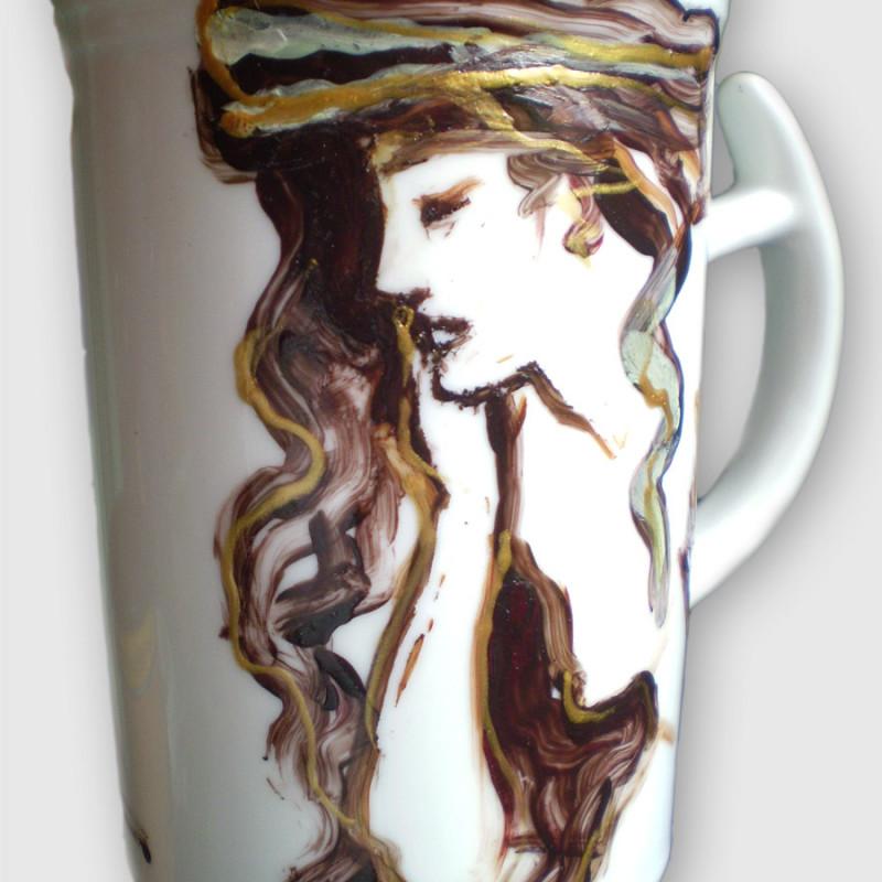 Kobieta - ceramika artystyczna, malarstwo na gotowym obiekcie, ArsKinga - Kinga Pawełska