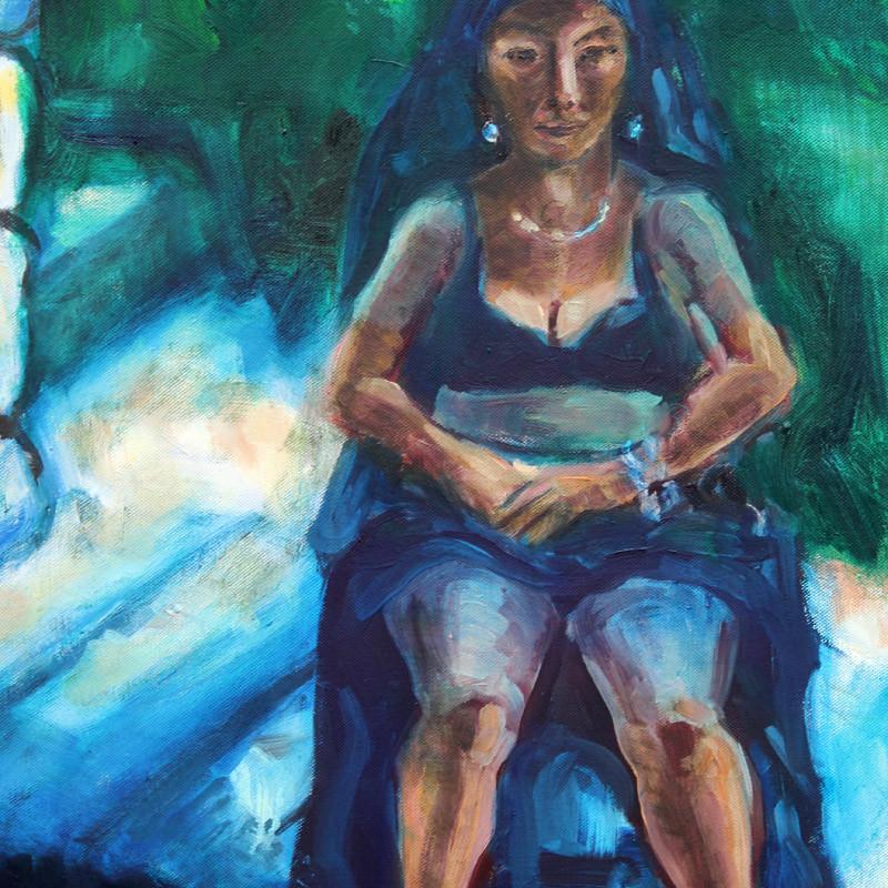 Letni cień - obraz olejny na płótnie, ArsKinga - Kinga Pawełska
