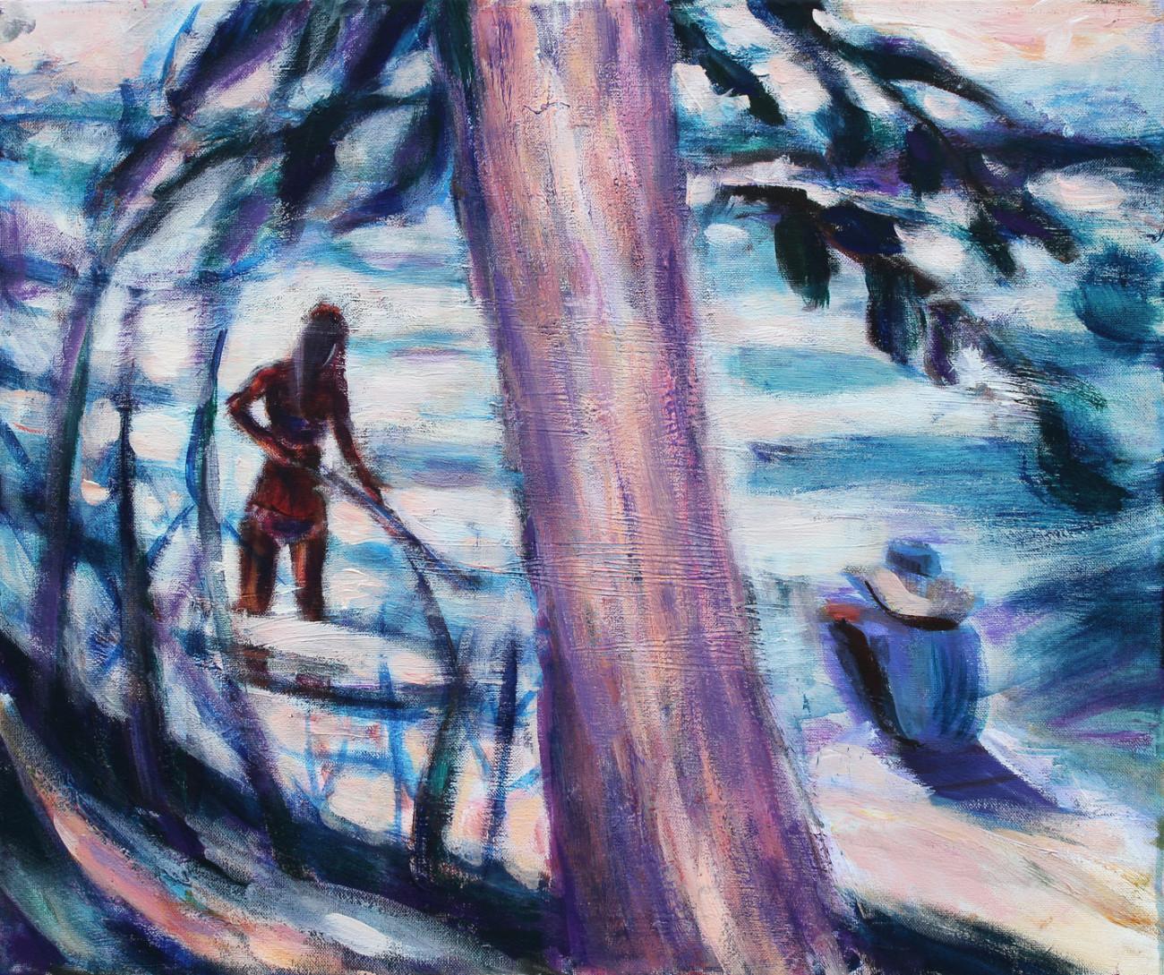 Nad wodą - obraz olejny na płótnie, ArsKinga - Kinga Pawełska