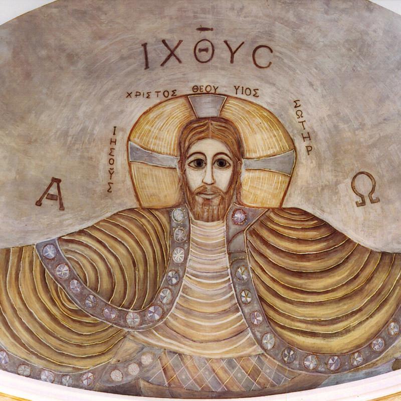 Chrystus Pantokrator - fresk w absydzie kościoła św. Wojciecha w Białymstoku, ArsKinga - Kinga Pawełska