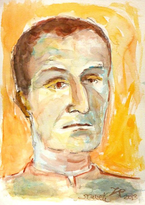 Portret Sławka - akwarela, ArsKinga - Kinga Pawełska