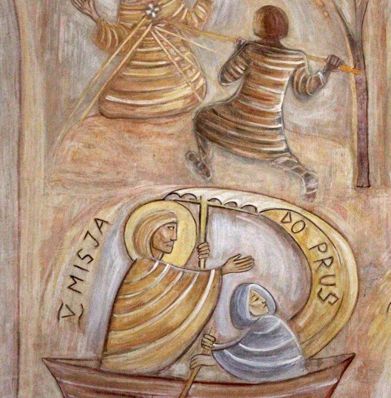 Sceny z życia św. Wojciecha - fresk w absydzie kościoła św. Wojciecha w Białymstoku, ArsKinga - Kinga Pawełska