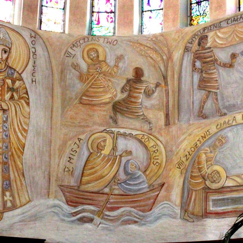 Sceny z życia św. Wojciecha z apoteozą - fresk w absydzie kościoła św. Wojciecha w Białymstoku, ArsKinga - Kinga Pawełska