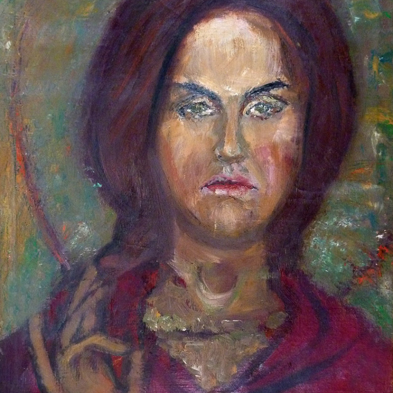 Św. Joanna - obraz olejny na płótnie, ArsKinga - Kinga Pawełska