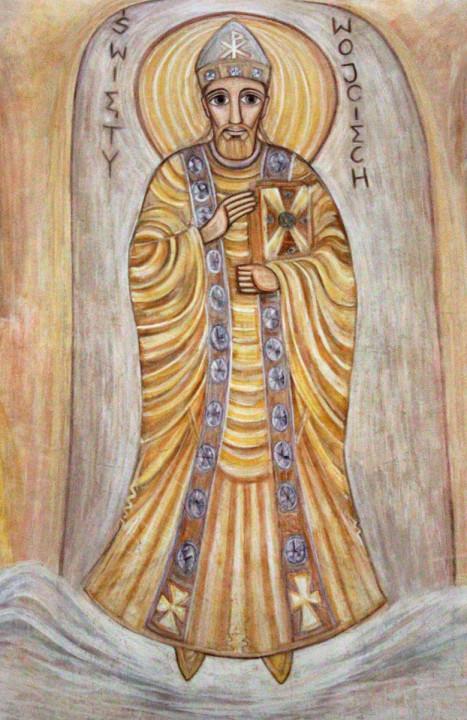Św. Wojciech - fresk w absydzie kościoła św. Wojciecha w Białymstoku, ArsKinga - Kinga Pawełska