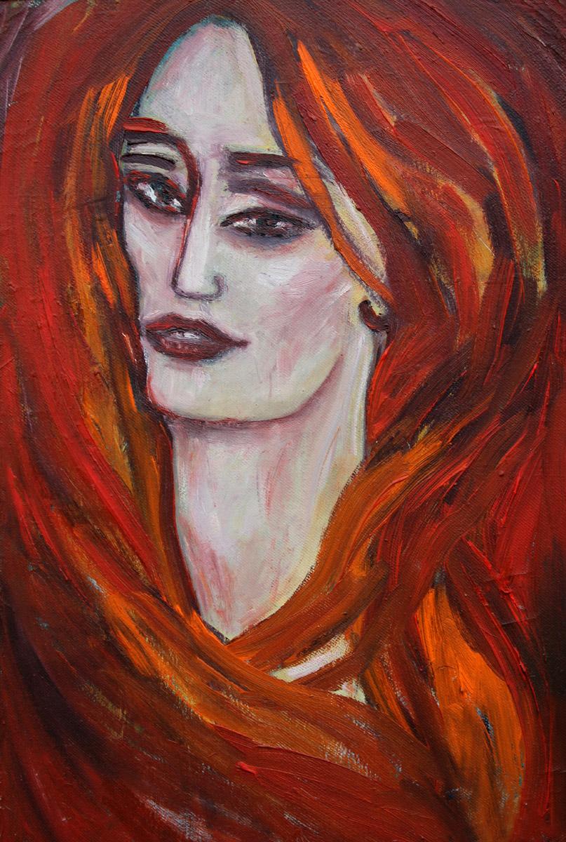 Syrena - obraz olejny na płótnie, ArsKinga - Kinga Pawełska