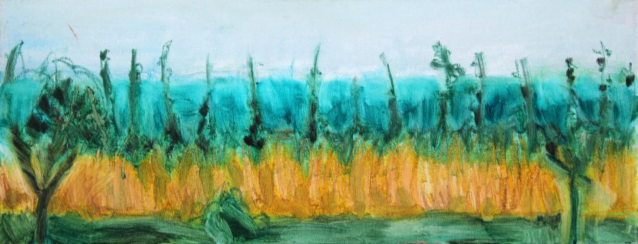 Szuwary - obraz olejny na płótnie, ArsKinga - Kinga Pawełska