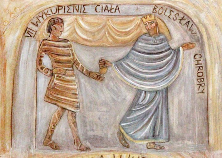 Wykupienie ciała św. Wojciecha - fresk w absydzie kościoła św. Wojciecha w Białymstoku, ArsKinga - Kinga Pawełska