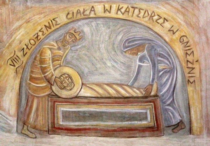 Złożenie ciała św. Wojciecha w grobie - fresk w absydzie kościoła św. Wojciecha w Białymstoku, ArsKinga - Kinga Pawełska