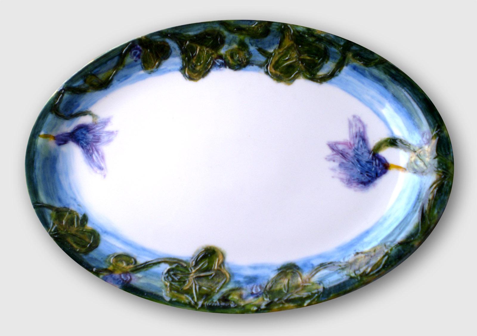 Ogród - ceramika, półmisek, ArsKinga - Kinga Pawełska