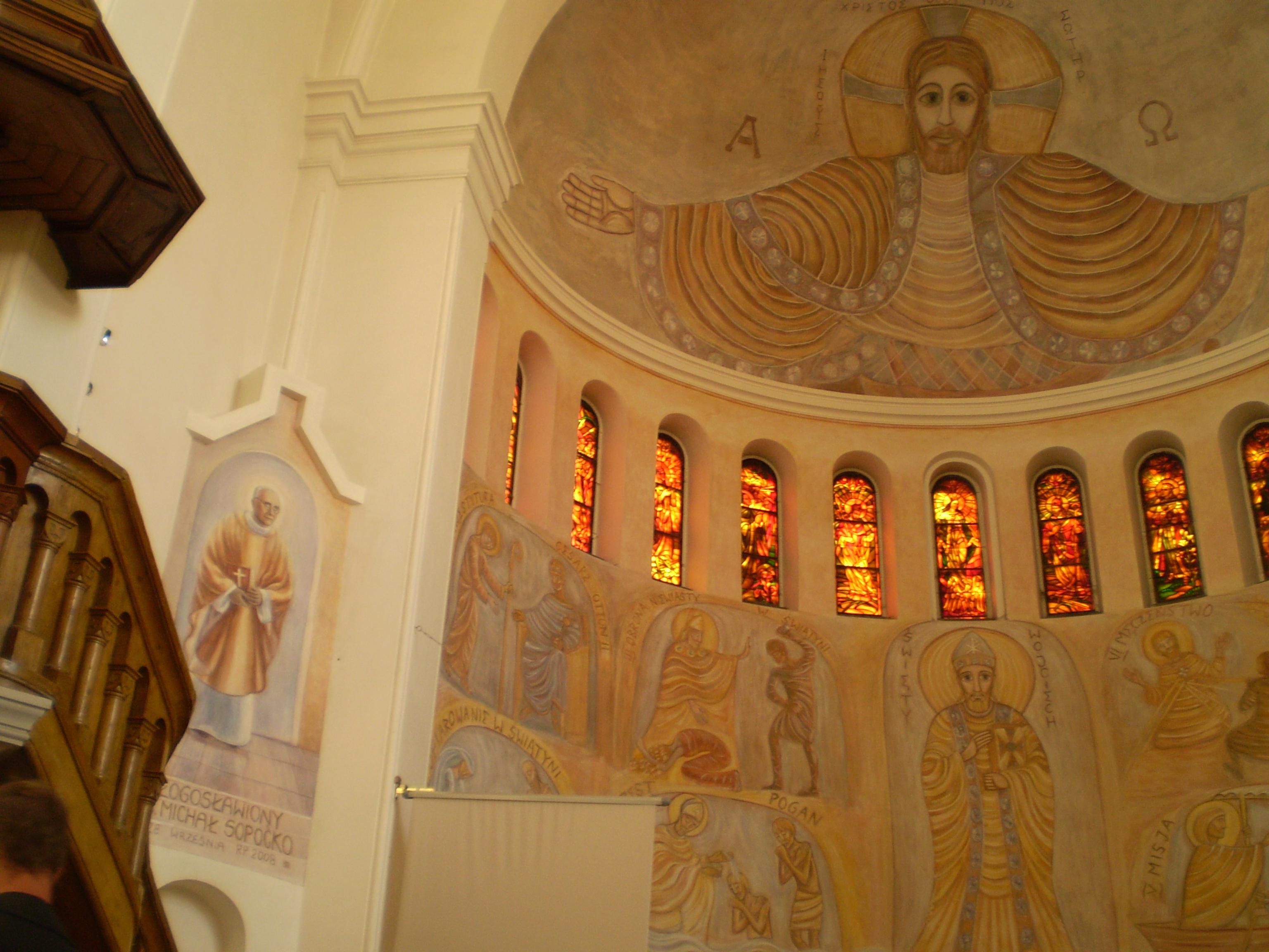 Freski w kosciele sw.Wojciecha w Białymstoku